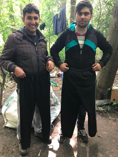 Can you donate a pair of trousers for a refugee?
