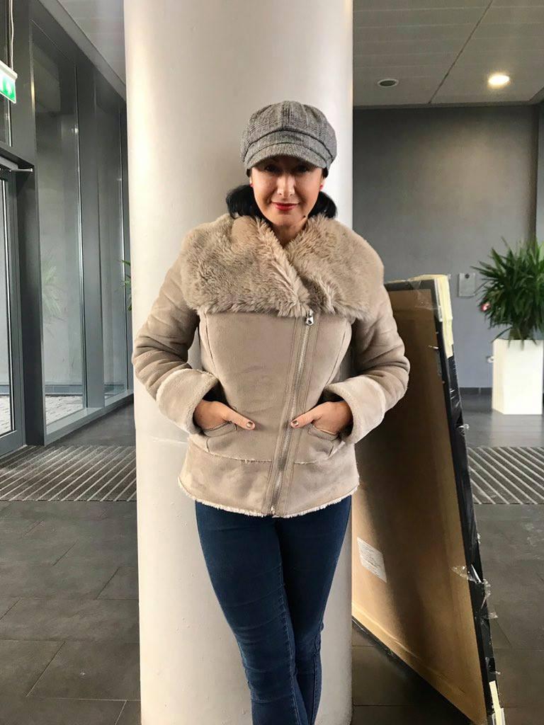 Hayley Tamaddon generously donates a coat