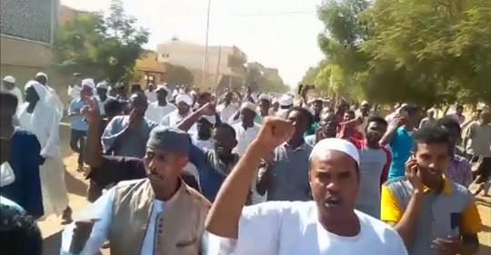 Ten days of protests in Sudan