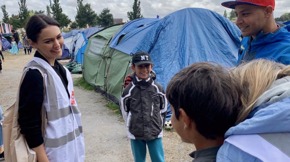 "Nazanin Boniadi on a ""very personal trip"" to Calais"