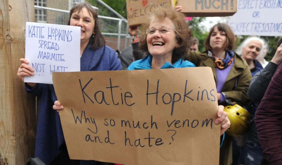 Someone has raised 5k for refugees in Katie Hopkins' name
