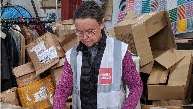 Meet the 58-year-old volunteer spending lockdown in Calais
