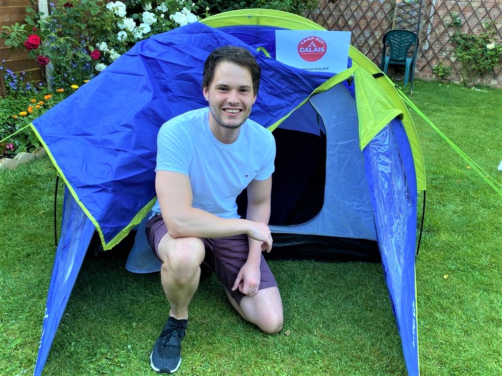 Mark takes on the #CampOut challenge for a night