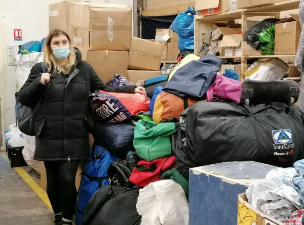 Duvets and tents taken to Paris after mass eviction