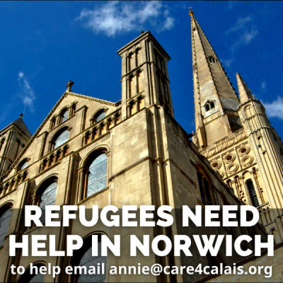 Refugees need your help in Norwich