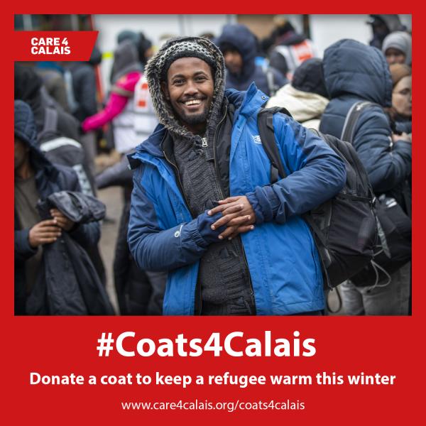 Coats4Calais: Help us keep refugees warm this winter