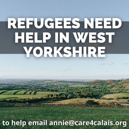 Can you help refugees in West Yorkshire?