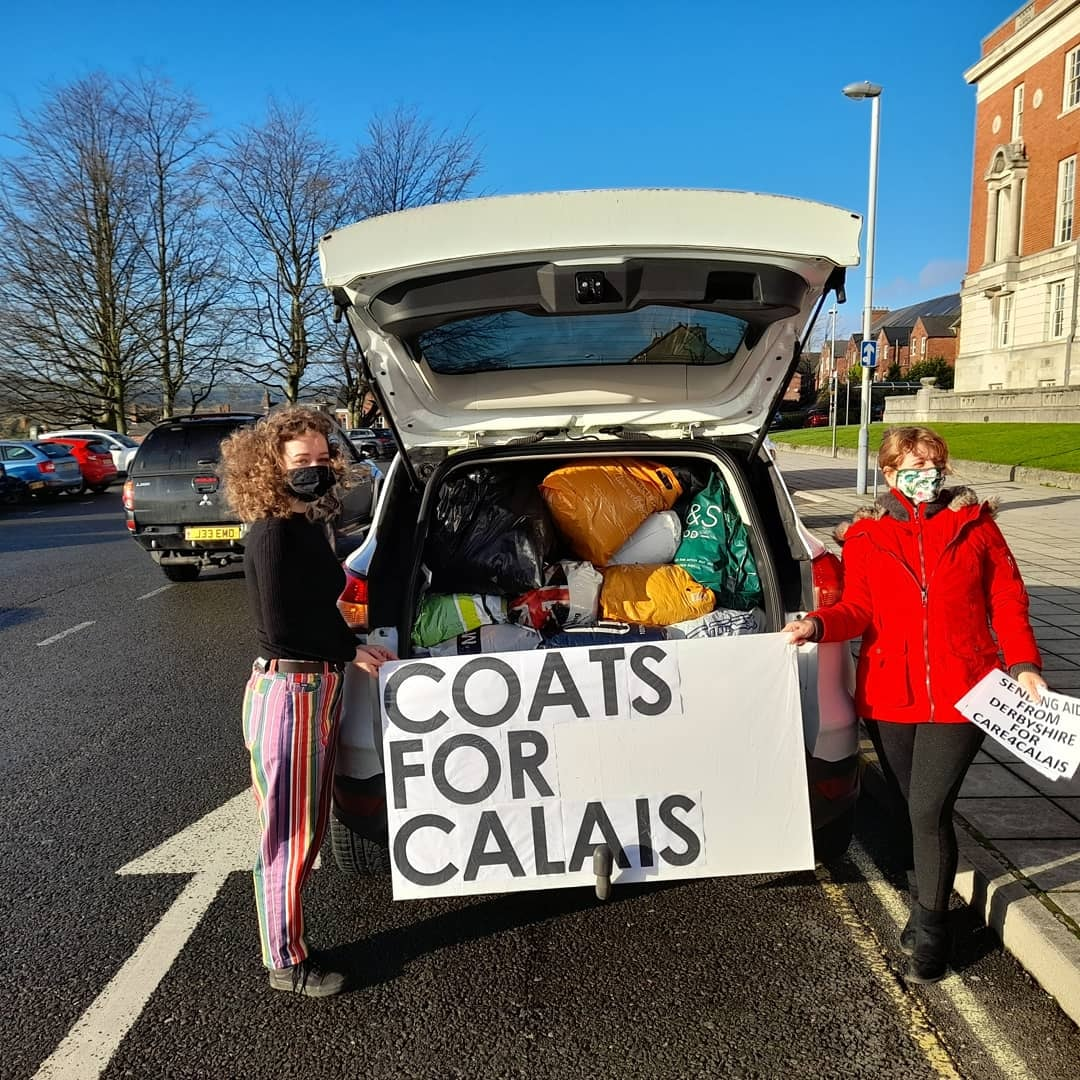 Sixth form student sets up coat collection for refugees