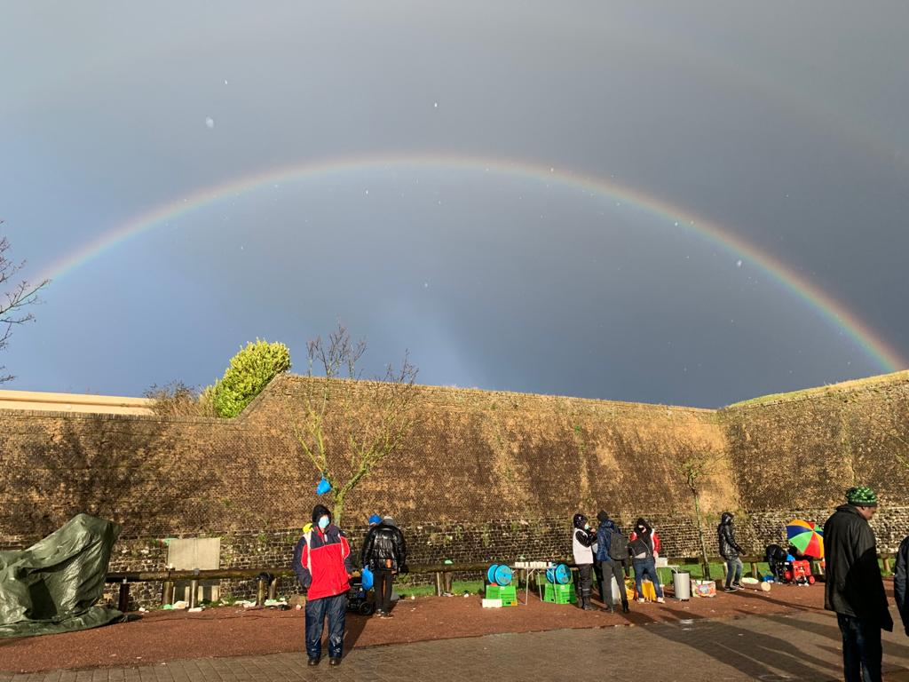 Warmth, dignity and rainbows in today's Calais distribution