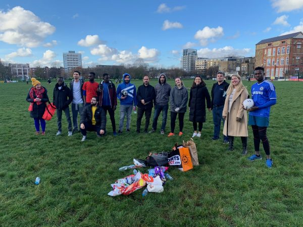 London refugees enjoy day out with games and tours