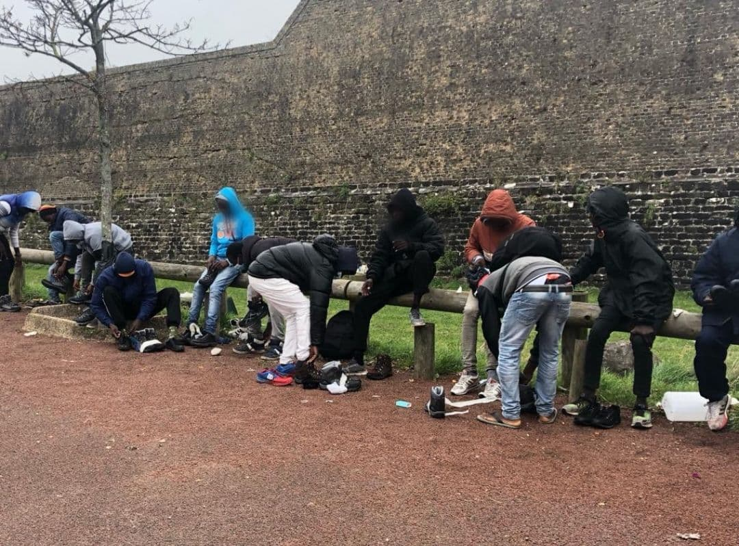 Refugee passes up on new shoes to help others