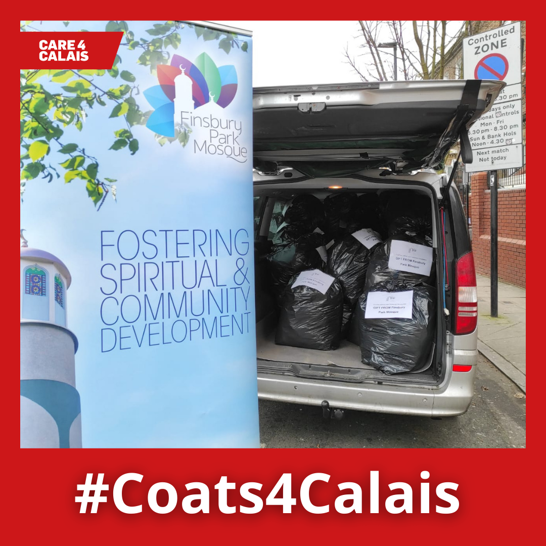 Finsbury Park Mosque congregation collects over three hundred #Coats4Calais