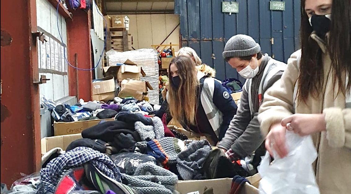 Crucial winter clothing distributed in Calais as temperatures plummet