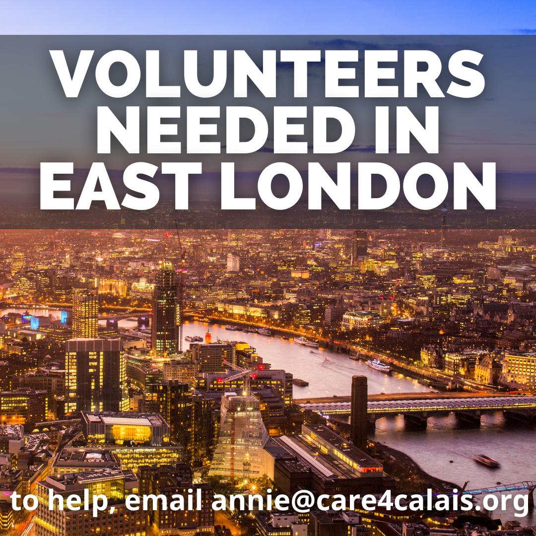 Volunteers needed in East London!
