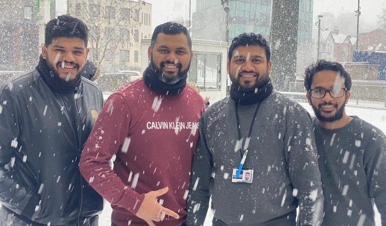 Enjoying a snowy Sunday in North London