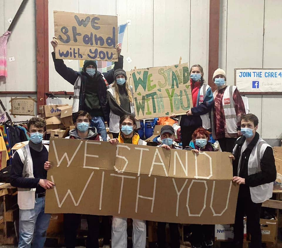 Care4Calais team send solidarity to residents of Napier Barracks