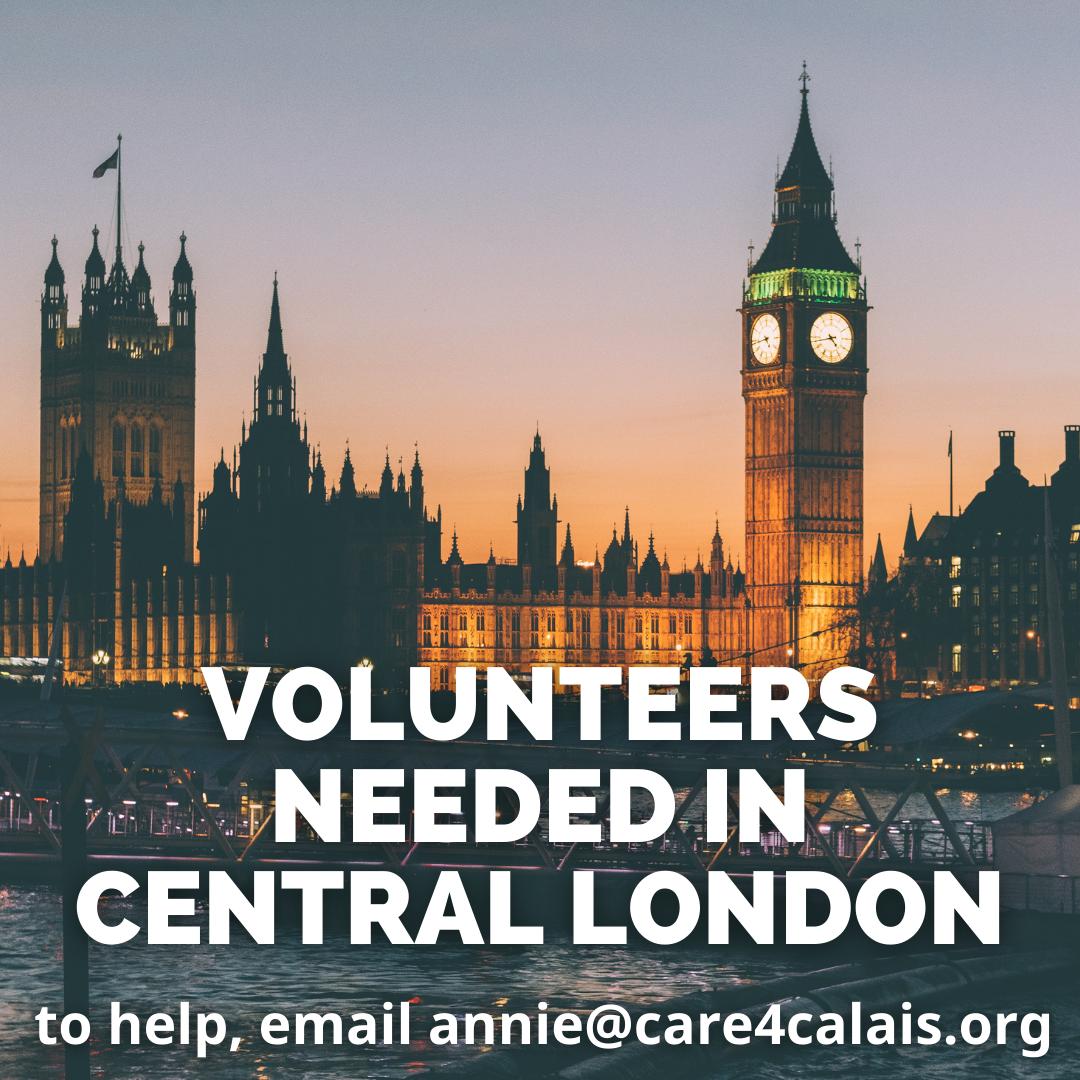 Dedicated volunteers needed in central London!