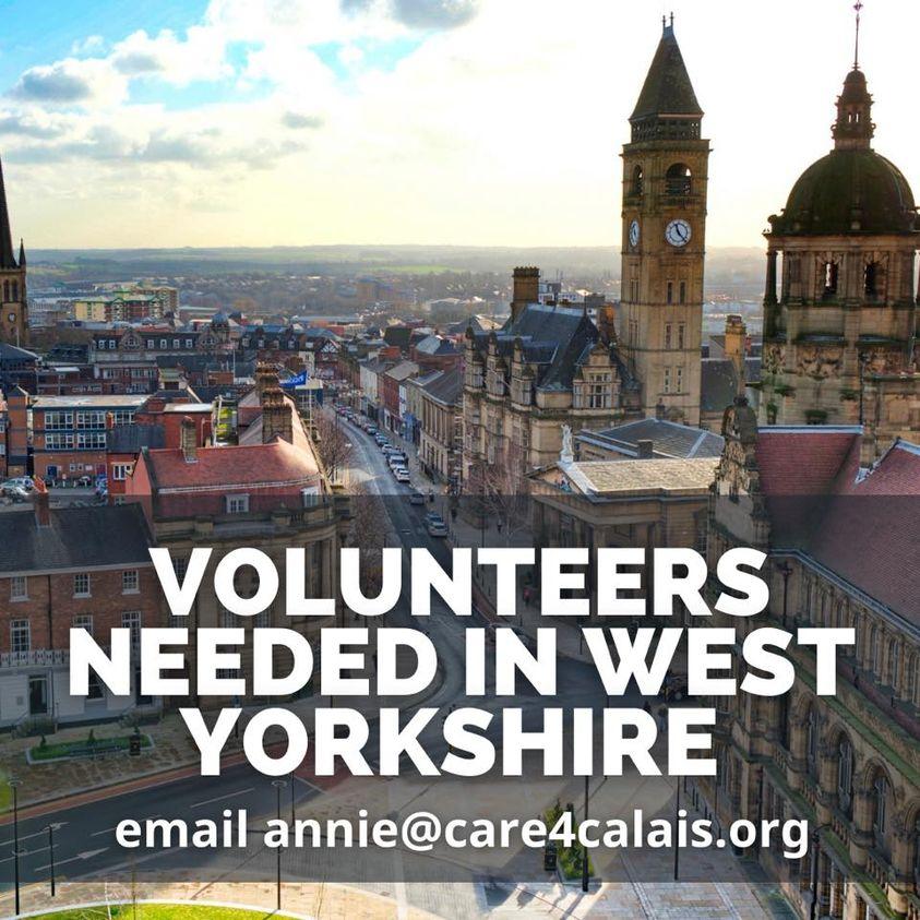 Volunteers needed in West Yorkshire