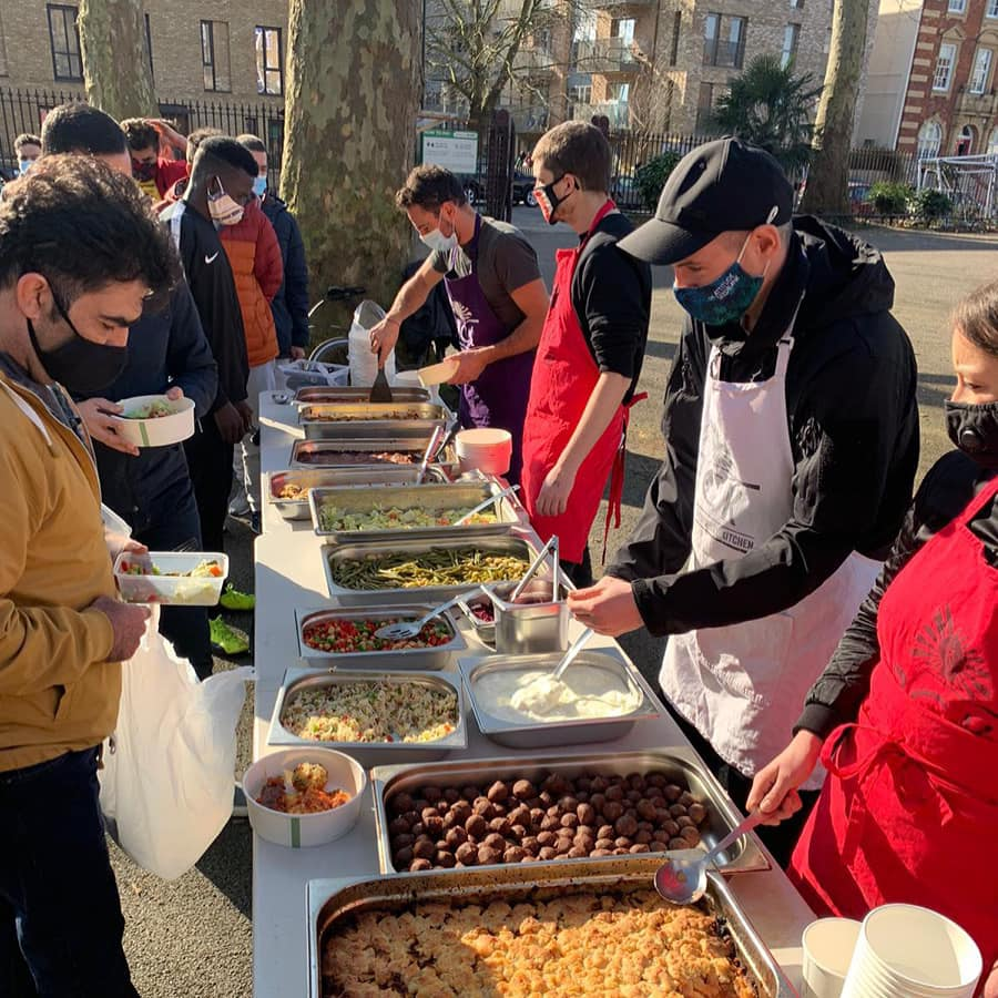 Delicious lunches with Refugee Community Kitchen