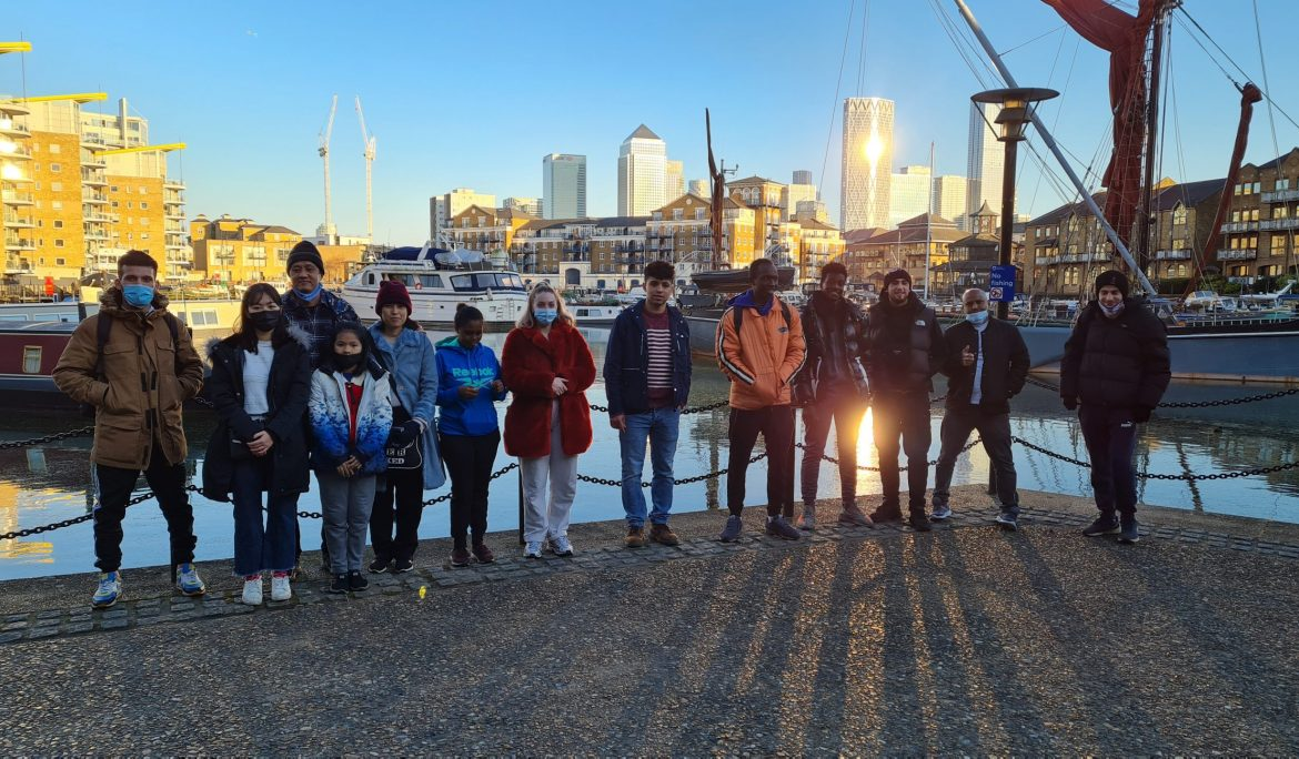 Winter sun and guided walks in East London