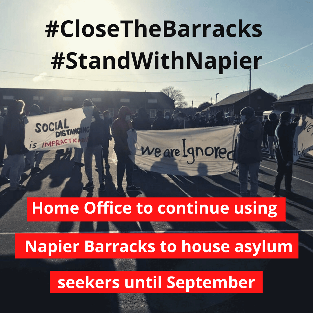 Home Office to continue using Napier Barracks to house asylum seekers